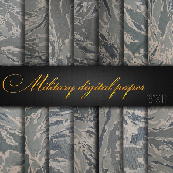 Military Camouflage / Military digital paper / Camouflage texture / Camo Patterns / Scrapbooking Paper / Invitation Supplies