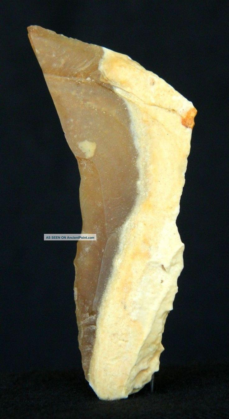 Lower Paleolithic Flint Awl - 5. 9 Cm / 2. 32