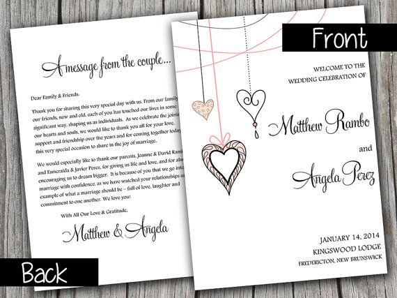 Best 25+ Wedding Program Template Word Ideas On Pinterest