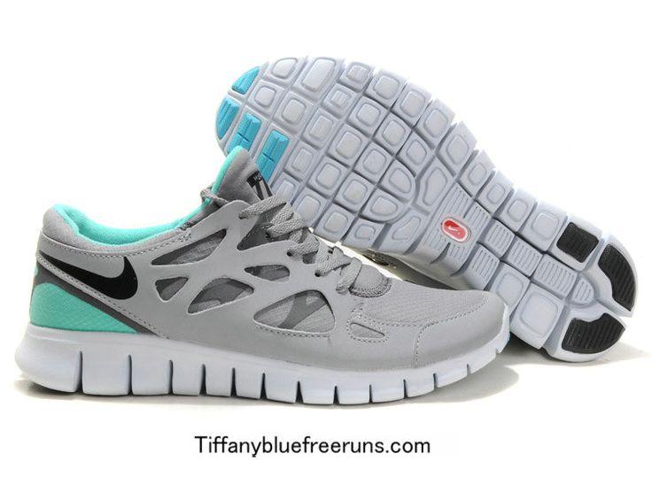 Turquoise Grey Nike Free Runs 2 Shield Girls