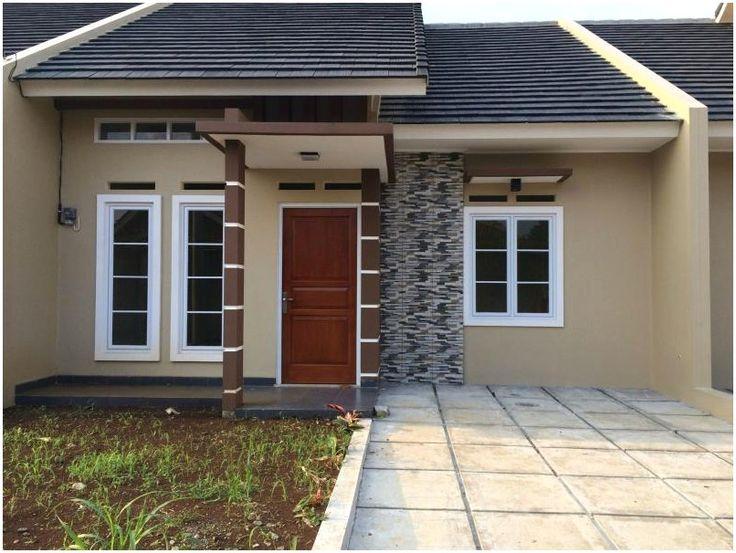 Model desain rumah minimalis 1 lantai Warna Krem Cokelat