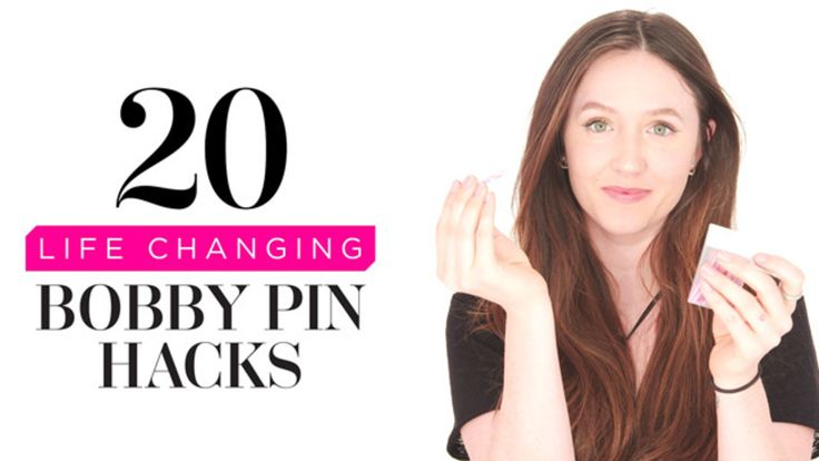 20 Life-Changing Bobby Pin Hacks: Take your hair game to the next level with these 20 game-changing (and super easy) bobby pin hacks.