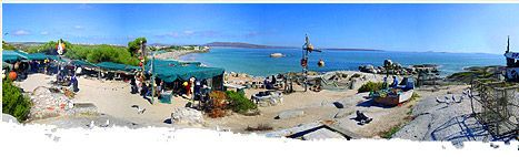 South Africa, on the western cape in Langebaan. 10 courses of west coast fish all cooked on an open fire. Pure heaven.
