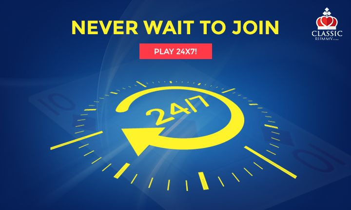 Never wait to join, play Rummy 24x7!  https://www.classicrummy.com/play-rummy?link_name=CR-12  #rummy #onlinerummy #Indianrummy #classicrummy #rummy24x7 #cardgames
