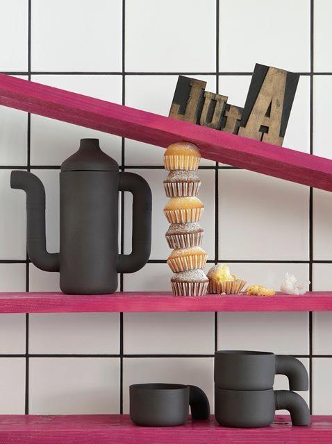 Fun way of presenting food + kitchen stuff.