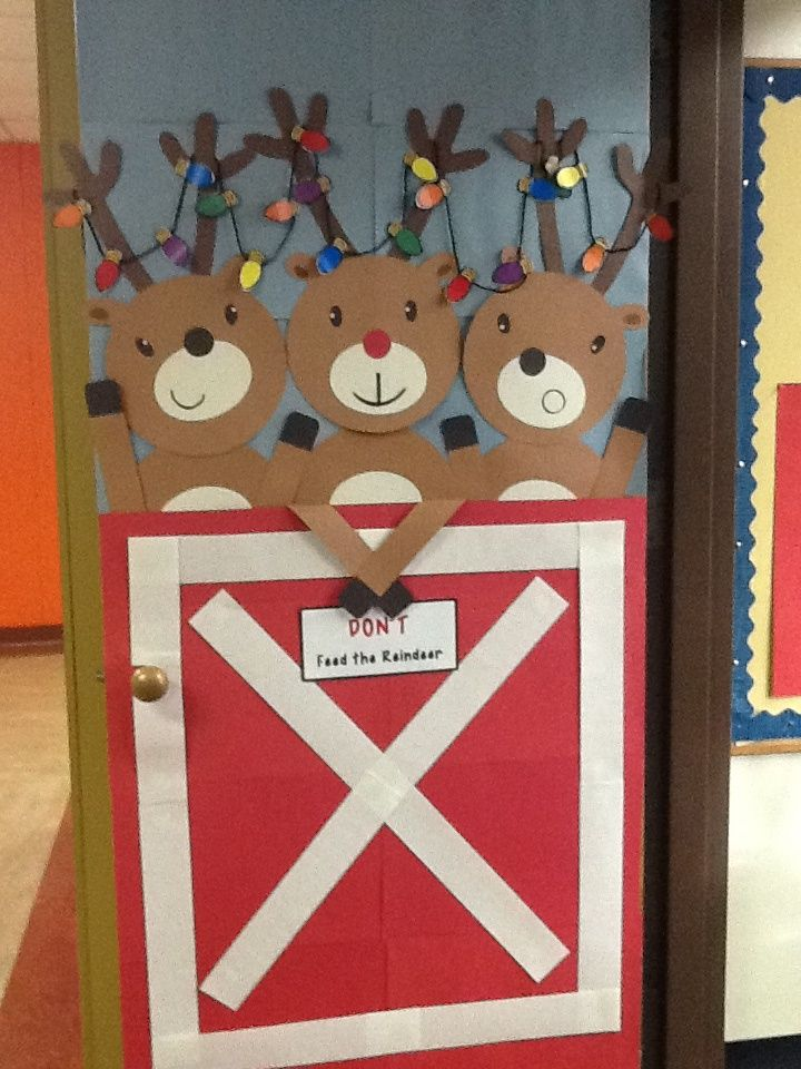 christmas class door with raindeers - Google Search                                                                                                                                                                                 More