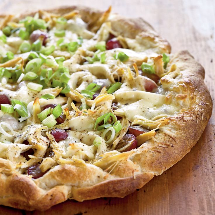 Chicken, Red Grape, and Pesto Pizza Recipe | MyRecipes
