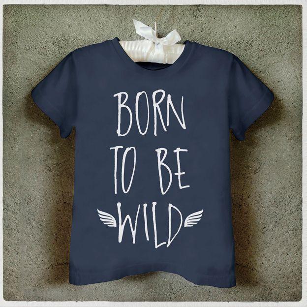 Camiseta Infantil Born to be wild  kids T-Shirt
