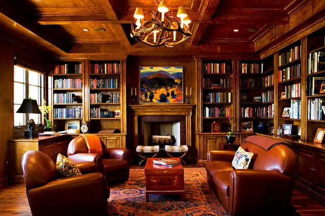 Traditional, men's club atmosphere. | Man Cave | Pinterest ...