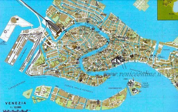 Hoge-resolutie grote stads-kaart van Venetie