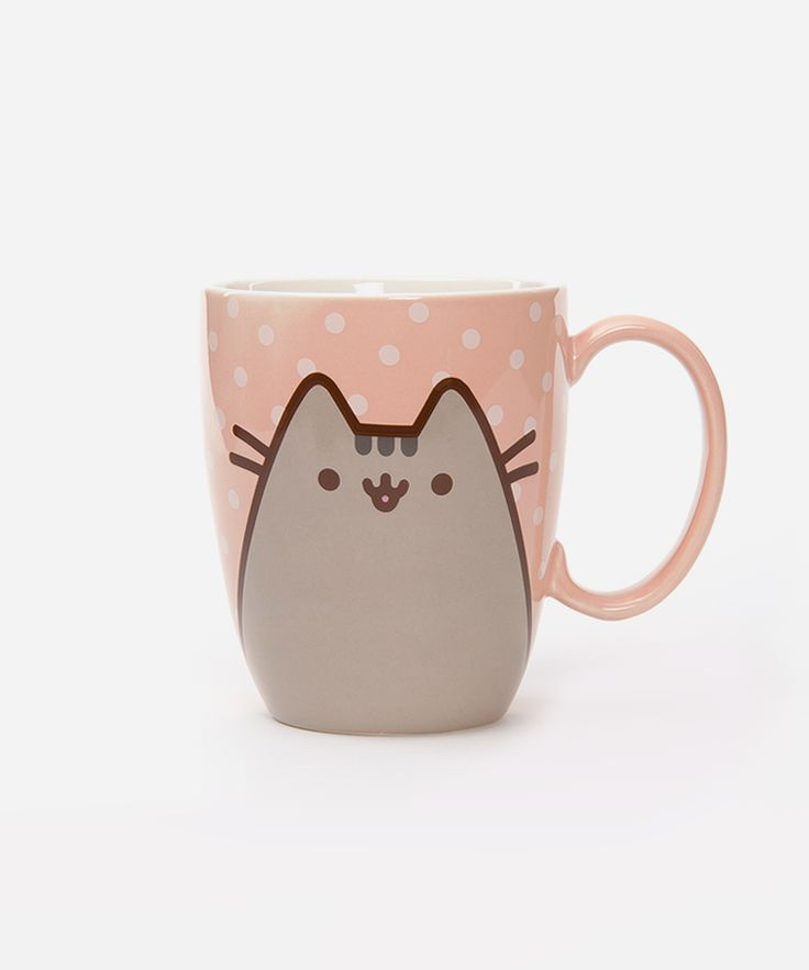 Pusheen ...Polka Dots...n coffee mug..purrrfect.