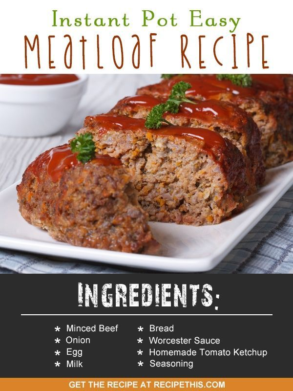 Instant Pot | Instant Pot easy meatloaf recipe from RecipeThis.com