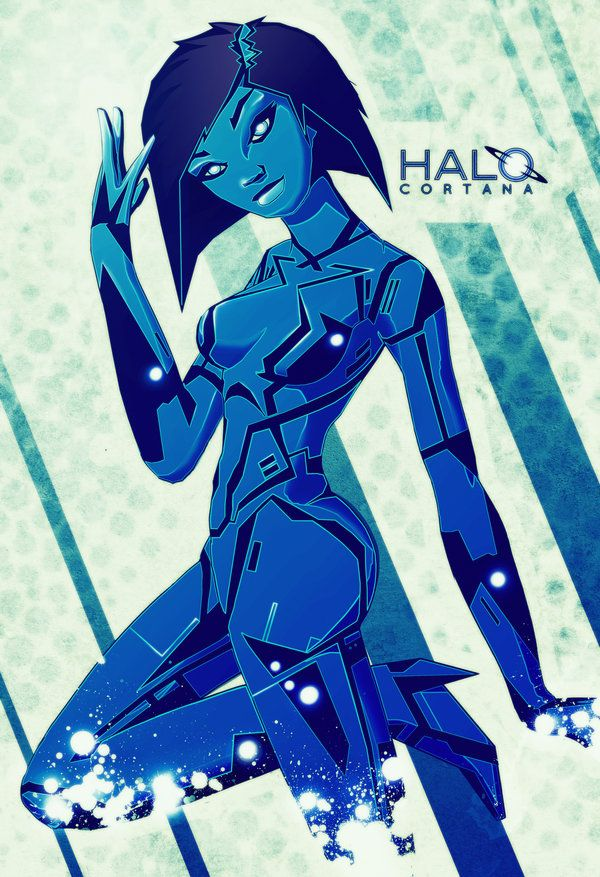 Cortana Halo Pinup Video Games Posters