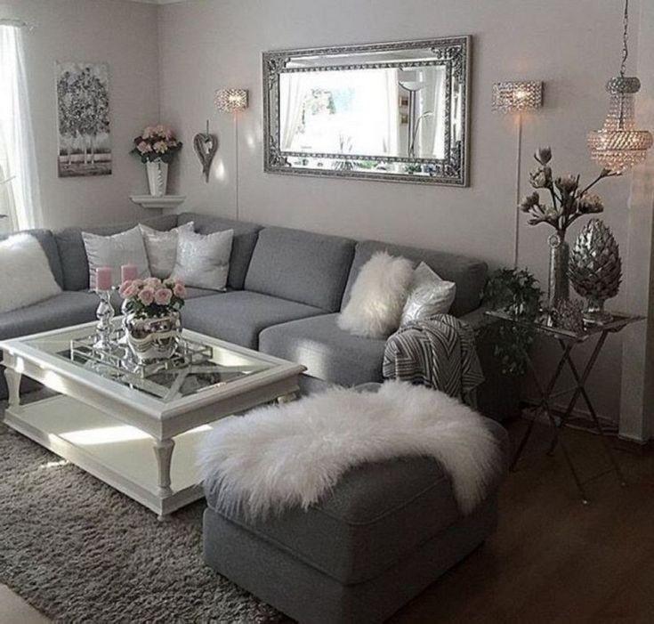 46 secret of modern grey living room apartment decorating ...