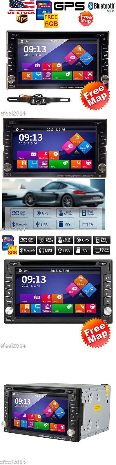 Car Audio In-Dash Units: Map+Free Camara +7 Hd Touch Double 2Din Car Gps Stereo Dvd Cd Player Bluetooth BUY IT NOW ONLY: $128.99