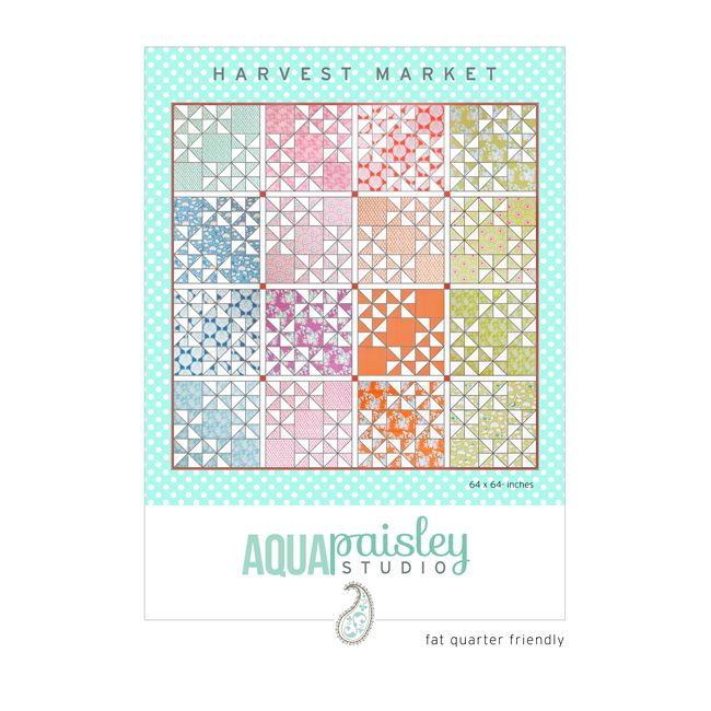 Harvest Market PDF Quilt Pattern available for immediate download. A perfect pattern to showcase your favourite fat quarter fabrics. $12.50AUD.