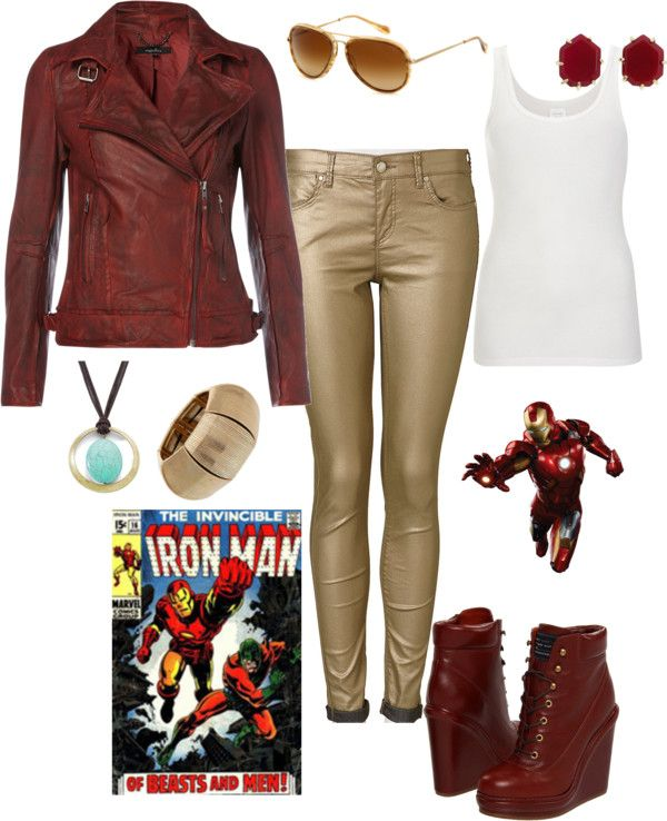 """""""Iron Man Inspired"""" by pamnken on Polyvore"""