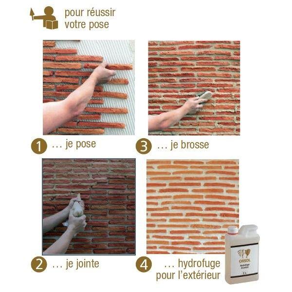 Les 25 meilleures id es de la cat gorie briquette de for Pose briquette de parement exterieur