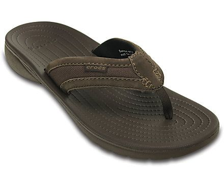 crocs thongs size 11 nicer ones for going out. Canvas upper straps.