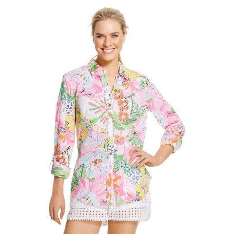 Lilly Pulitzer for Target Women's Button Down Shirt - Nosie Posey
