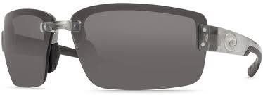 Costa Del Mar Sunglasses - Galveston- Plastic / Frame: Silver Lens: Polarized Gray 580 Polycarbonate