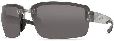 Costa Del Mar Sunglasses - Galveston- Plastic / Frame: Silver Lens: Polarized Gray 580 Polycarbonate