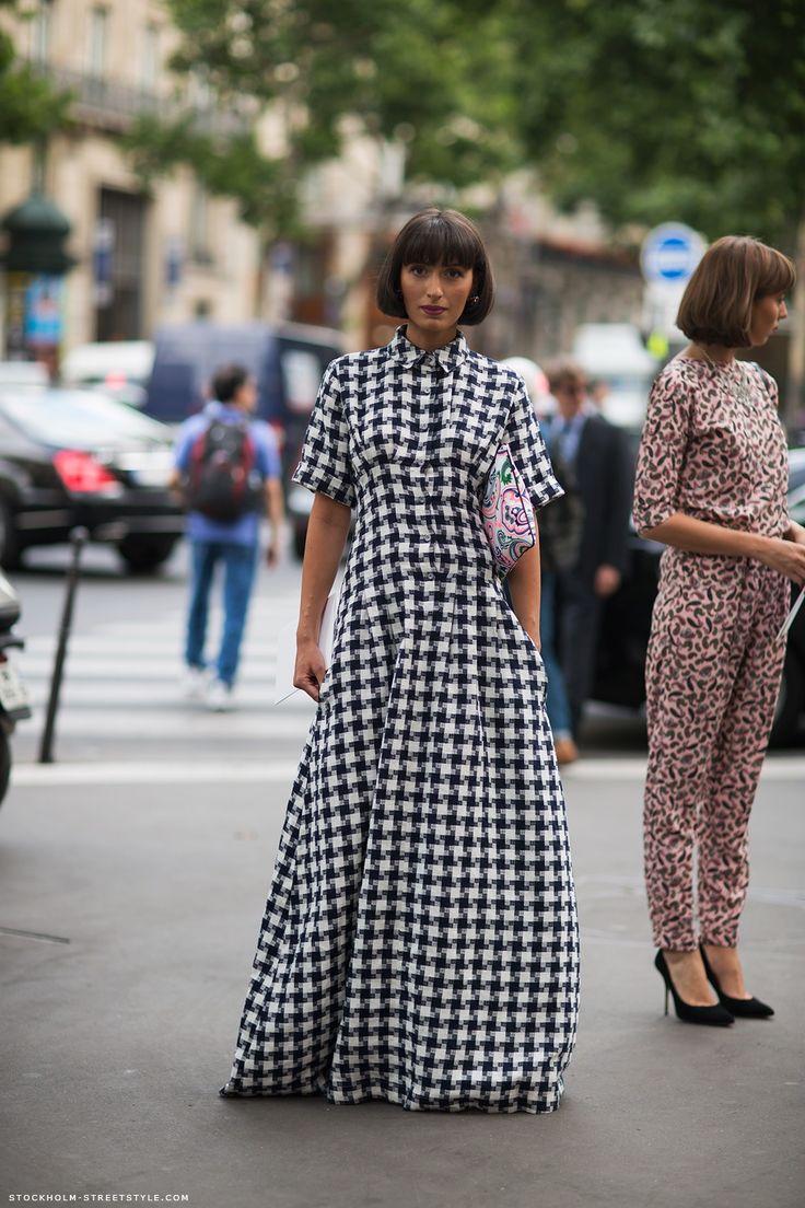Carolines Mode | StockholmStreetStyle: Summer Casual Style, Maxi Dresses, Fashion Clothing, Fashion Style, Natuka Karkashadz, Fashion Blog, The Dresses, Winter Hair, Bobs Hair
