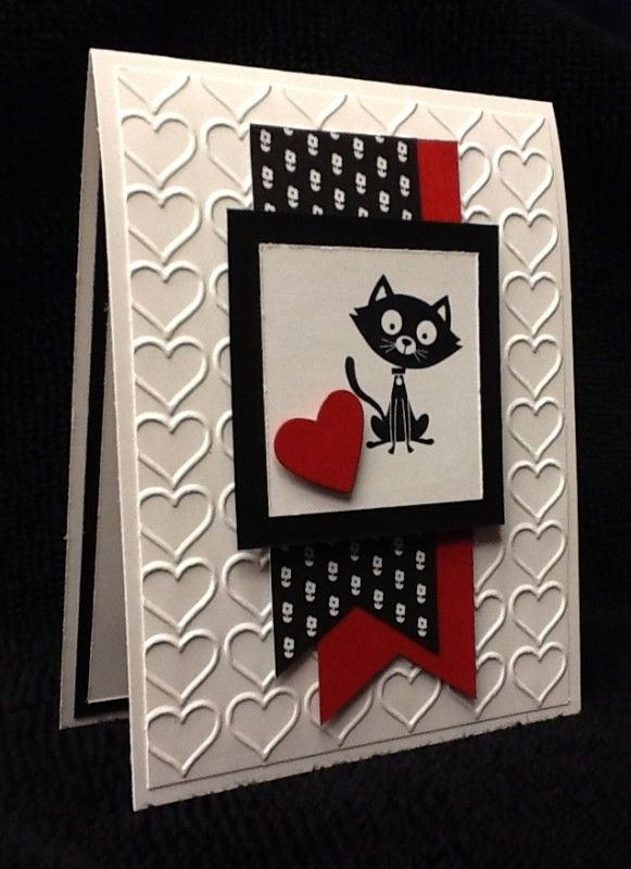 Cat-itude Valentine by razldazl - Cards and Paper Crafts at Splitcoaststampers - SU - Valentine You Little Furball Cats