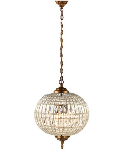 Hanging glass crystal chandelier
