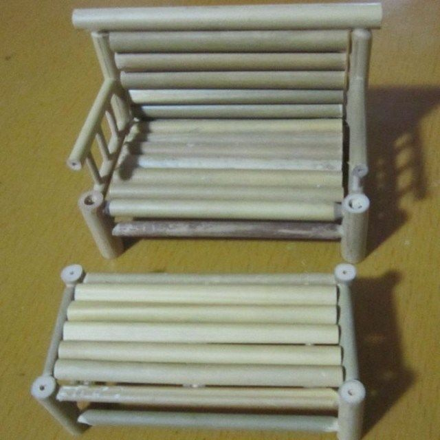 Kerajinan Tangan Dari Bambu Dengan Gambar Bambu Kursi