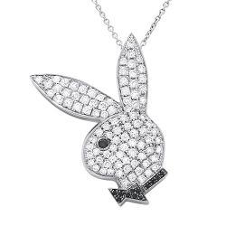 1.40cts Playboy Bunny Diamond Necklace