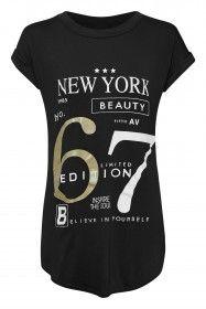 Ladies - No. 67 Printed Oversized Black T-Shirt  £9.00    Buy at www.leealiexclusive.co.uk   👍 Follow us on Facebook, .Instagram & Pinterest     #LeeAliExclusive