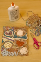 Weave a Colorful Yarn Mosaic from Education