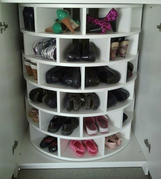 I sooo need this!!!   Rotateable Shoe Rack  #mjcdreamcloset    #matildajaneclothing