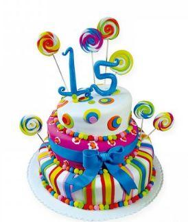 Torta quinceañera personalizada