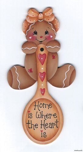 HP GINGERBREAD Home is Where the Heart Is FRIDGE MAGNET