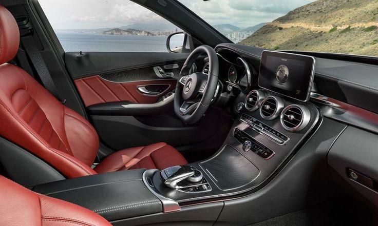 Mercedes C300 and C400 interior photos, luxury sedan