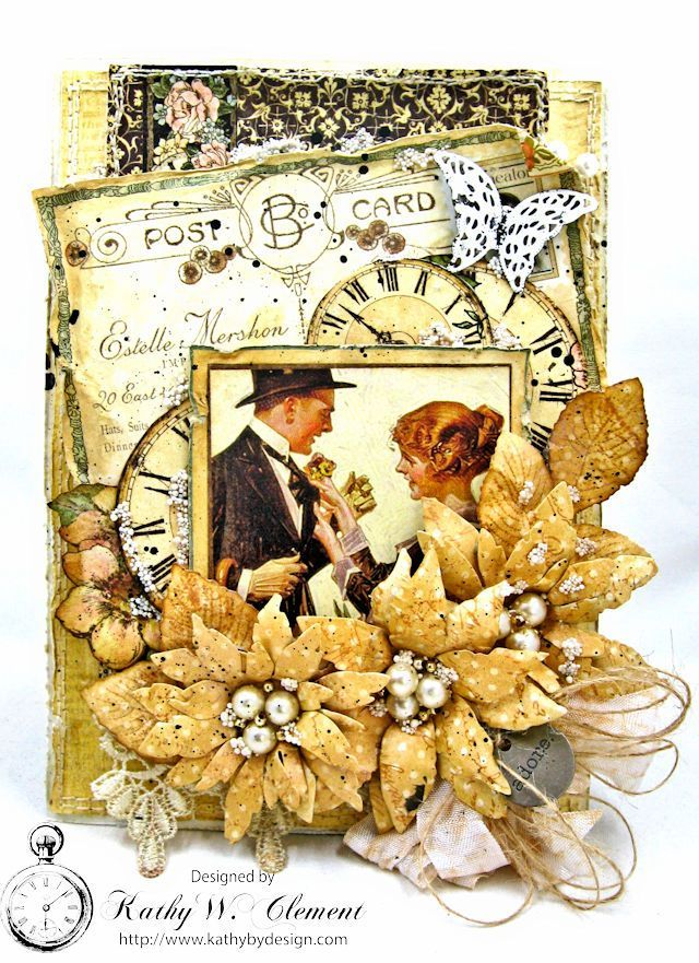 Adore Shabby Chic Wedding Card by Kathy Clement | www.tammytutterow.com