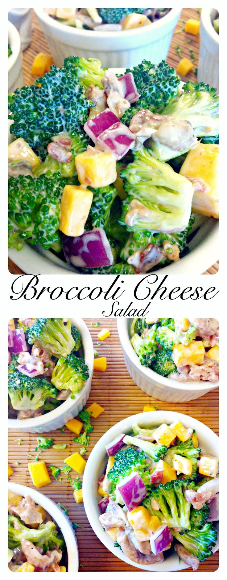 Broccoli Cheese Salad ~ The Complete Savorist The deli counter salad made easy, and better for you.
