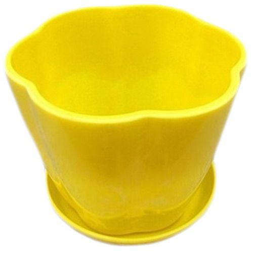 Take The Tray Faceplate Plastic Grass In 7 Colour Green Flowerpot(Yellow)