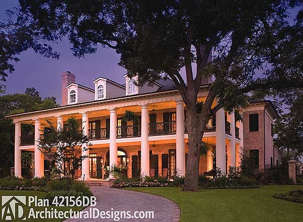 Your Very Own Southern Plantation Home - 42156DB | Plantation, Southern, Luxury, Photo Gallery, Premium Collection, 1st Floor Master Suite, Bonus Room, Butler Walk-in Pantry, CAD Available, Den-Office-Library-Study, Elevator, In-Law Suite, Media-Game-Home Theater, Multi Stairs to 2nd Floor, PDF, Corner Lot | Architectural Designs