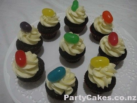 Jumbo Jelly Bean Mini Cupcakes