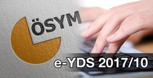 e-YDS 2017/10 Başvuruları Başladı