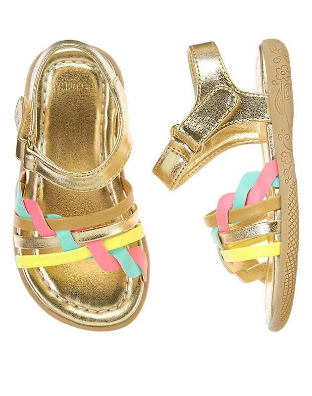 Very cute sandals from gymboree could match many outfuts with these colors.