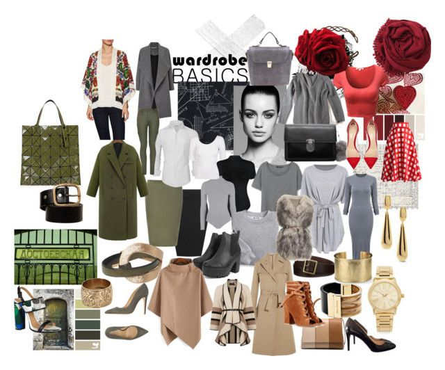 Vintage Basics by supersilent on Polyvore featuring moda, CO, Blair, MANGO, WearAll, Anna Sui, Jil Sander, Karen Millen, Miss Selfridge and PINGHE