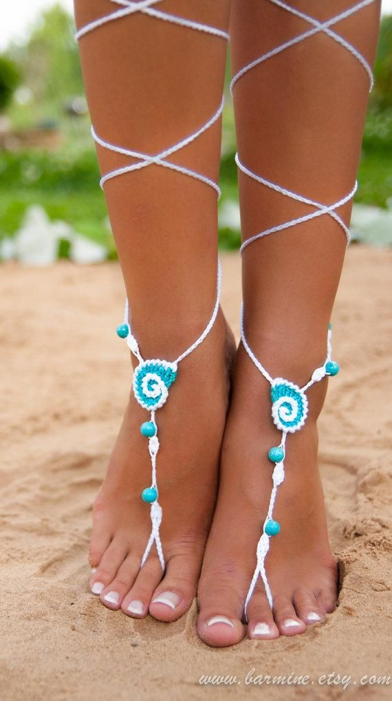 Crochet beach shoes