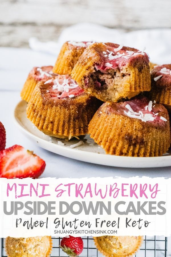 These fluffy moist mini strawberry upside down cakes are the perfect dessert for this season. They are Gluten free, Low…