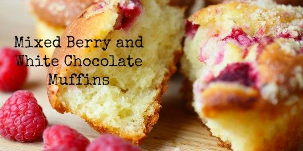 Mixed Berry and White Chocolate Muffins | Stay at Home Mum