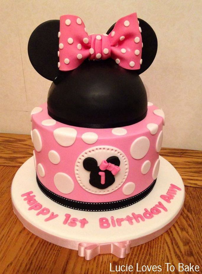 Disney Minnie Mouse Birthday Cake. Handmade by #lucielovestobake