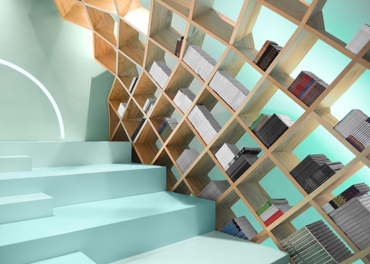 Wooden Gridshell Forms Shelves At Mexico Library By Anagrama Architecture Interior DesignLibrary